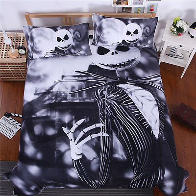 The Nightmare Before Christmas Jack Skellington Quilt Cover Bedding Set 3-piece ()