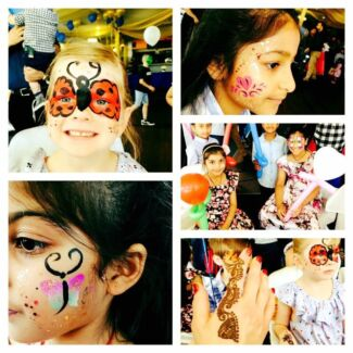 Face Painting, balloons twisting and Henna tattoos