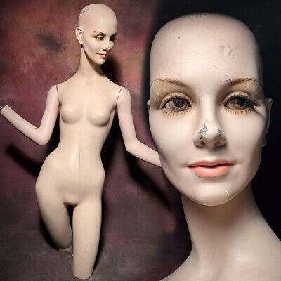 Wolfvine Mannequin Creepy Distressed Display Female Realistic Vintage Oddity