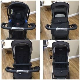 Silver Cross Black Pioneer Travel System