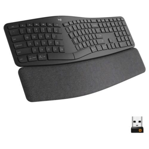 Logitech ERGO K860 Wireless Waveform Keyboard - Black