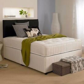 ❋★❋ BRAND NEW ❋★❋ DOUBLE DIVAN BED WITH MATTRESS £89 ❋★❋ EXPRESS DELIVERY BASE ONLY £49