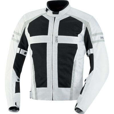 iXS Andover Mesh Motorcycle Jacket With Armor White/Grey Men
