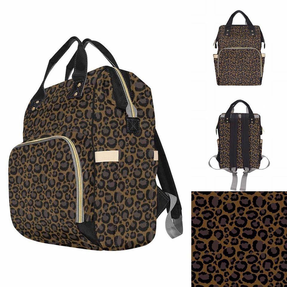 Leopard Print Baby Changing Diaper Backpack Rucksack Bag Alternative