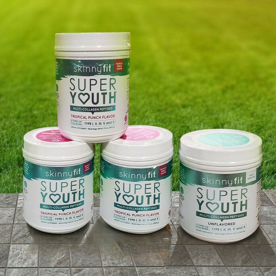Skinny Fit Super Youth Multi Collagen Unflavored, Tropical Puch Fast Shipping