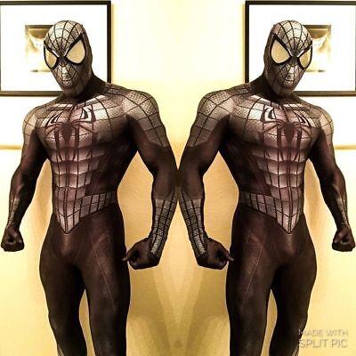 Black Spiderman Costume Halloween Cosplay Superhero Zentai Suit For Adult/Kids - Spiderman Halloween Costumes For Adults