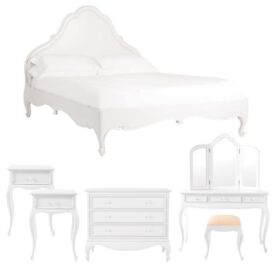 Solid wood French Roccoco Style Bed Drawers Dressing Table Side Tables cost £2800