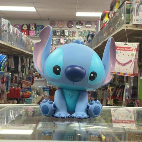 "Stitch 10"" PVC Molded Plastic Figure Coin Bank Piggy Bank Disney Lilo & Stitch"