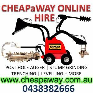 CHEAPaWAY DINGO HIRE | POST HOLE AUGER  TRENCHING  STUMP GRINDING Ipswich Ipswich City Preview