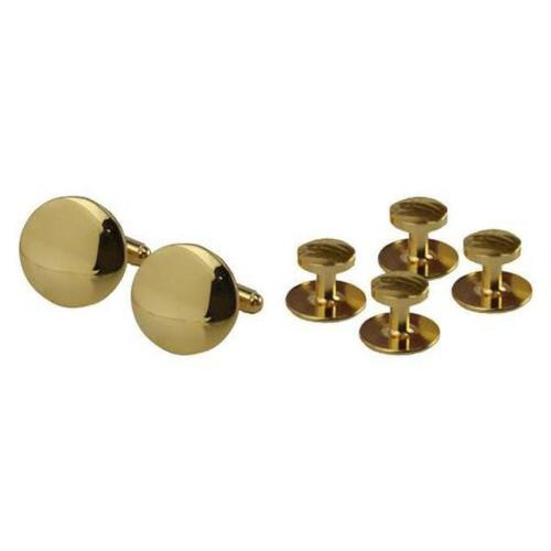 USN Navy Cuff Links Set and Studs Gold set of 4 Studs  (Made in USA)
