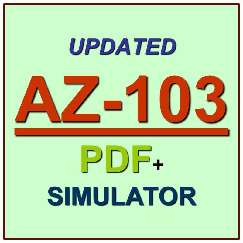 Latest AZ-103 Verified Practice Test Exam QA SIM PDF+Simulator