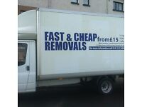 TWO MEN WITH LUTON VAN ( CHEAP HOUSE REMOVALS) PRICE FROM £15