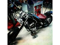 Kraken Motorcycles. Small independent motorcycle garage in Wallasey