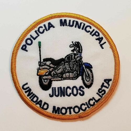 VTG OBSOLETE PUERTO RICO POLICE MOTORCYCLE UNIT PATCH / JUNCOS PR
