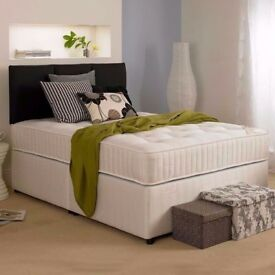 SAME DAY EXPRESS DELIVERY!! Kingsize Divan Bed With 10 Ambassador Full Orthopaedic Mattress