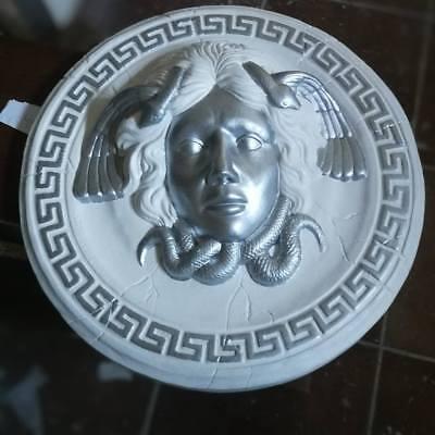 Relief Rosette Medusa Versace Stuck gips Bas relief griechische Skulptur Greek