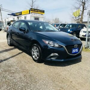 2015 Mazda MAZDA3 100% APPROVED\- SKY ACTIVE TECHNOLOGY 65KM