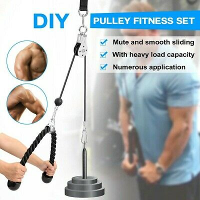 Tonyko Push Pull Down Cord Tricep Rope Multi Gym Bodybuilding Cable Attachment