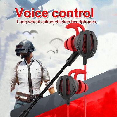 Wired Headphone 3.5mm Gaming Earphone Surround Sound Bass Headset Earbuds (Earbud Surround Sound Headphones)