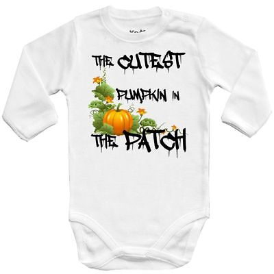 The cutest pumpkin in the patch 1 Halloween costume CPK Baby Vests bodysuit (Cutest Halloween Costumes Babies)