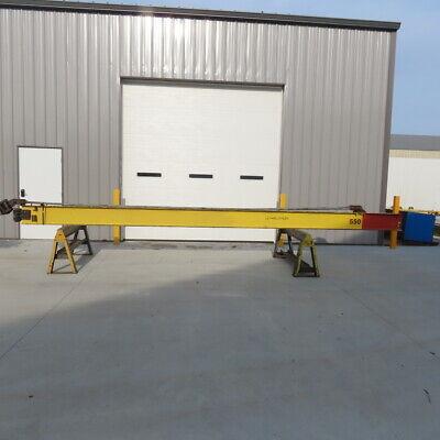 4000lb 2ton Cap. Wall-mount Overbraced Tie-rod Jib Crane 266 Swing