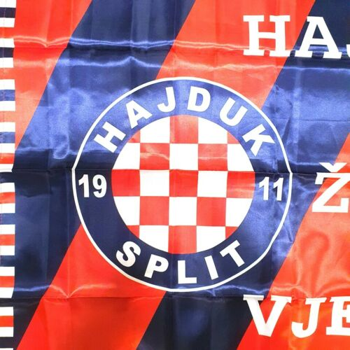 Croatian Flag no fringes 150x75cm - Hajduk Torcida - Brand New