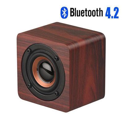 Portable Wooden Wireless Bluetooth Speaker Mini Loudspeaker Super Bass Sound Box - Mini Speaker Sound Box