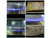 14ft trampoline - in very good condition , hardly been used
