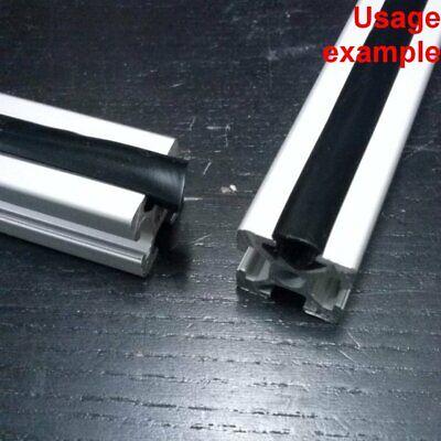 Aluminum T-slot Profile End 6mm Slot Cover Plastic Black 2020 L 4m