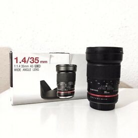 Samyang 35mm 1.4 Wide Angle Canon Lenses
