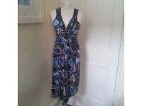Figure-fitting hippy/boho sleeveless dress UK size 10