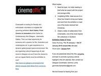 Volunteers Call - Invigilating exposition CCA Cinemaattic Glasgow