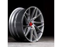 """20"""" Veeman V-FS44 (Silver Machined) Alloy Wheels & Tyres Suit Bmw F30,F10 3,4 Series (5x120)"""
