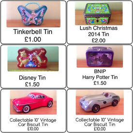 SELECTION OF STORAGE/DECORATIVE/COLLECTORS TINS