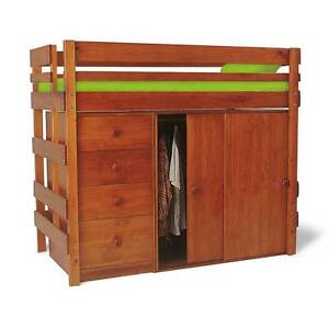 Bunkers Mid-line high bed with chest and robe Surrey Downs Tea Tree Gully Area Preview