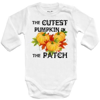 0The cutest pumpkin in the patch 2 Halloween costume CPK Baby Vests bodysuit (Cutest Halloween Costumes Babies)