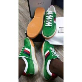 Gucci leather and nylon shoe