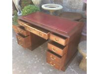 Lovely Vintage Leather Topped Writing Desk