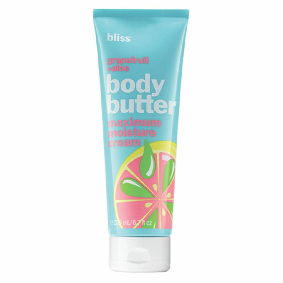 Bliss Grapefruit and Aloe Body Butter Maximum Moisture Cream 200ml CLEARANCE
