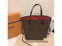 Louis Vuitton Neverfull Designer Womens Handbag Bag Purse Wallet Travel Bag