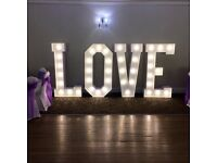 Wedding *5 Foot LED LOVE Letters Just £95* Set up & collection included