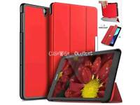 Brand new red Leather magnetic case cover with Stand for tablet Sumsung T580