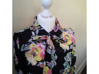 Gorgeous hippy/boho sheer dress by Evita Gold UK size 8