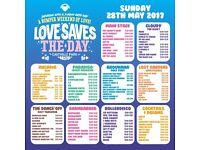 Love Saves The Day LSTD Sunday £100