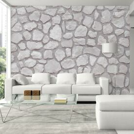 STONE EFFECT WALL PAPER - SHAHEEN DESIGNER