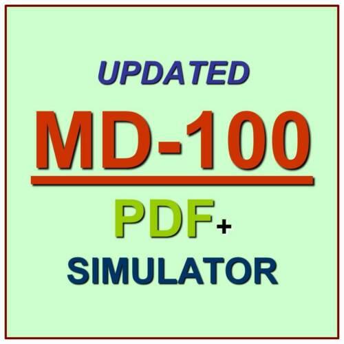 Latest MD-100 Verified Practice Test Exam QA SIM PDF+Simulator