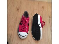 Converse pink trainers