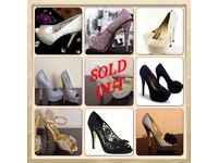 JOBLOT BRAND NEW BOXED LADIES BRANDED PARTY WEAR AND CASUAL FOOTWEAR REDUCED FOR QUICK SALE