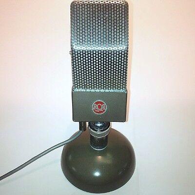 "RCA ART DECO VINTAGE ""Jr. Velocity"" #74B MICROPHONE C. 1930's WORKS UNMOLESTED!!"