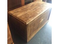 FULLY RESTORED Vintage Wooden ottoman Chest/Trunk